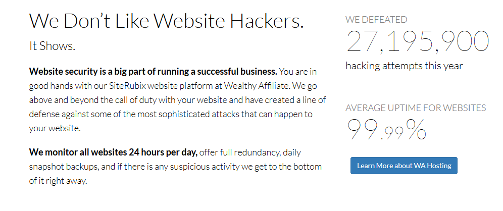 We Don't Like Website Hackers