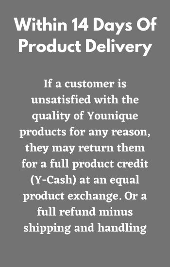 Younique Product Exchange Policy