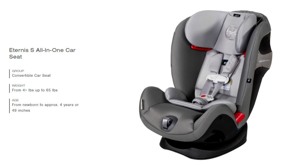 Cybex Eternis S SensorSafe Car Seat - Eternis S All-In-One Car Seat